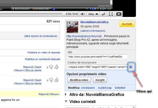 Come inserire un video nel forum 2010-013