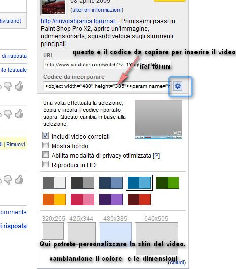 Come inserire un video nel forum 2010-014
