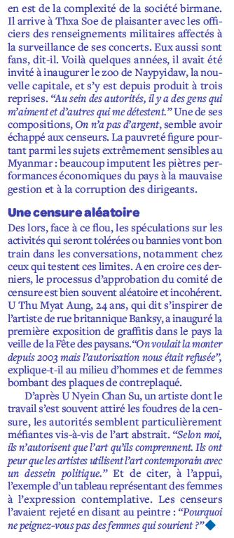 Avoir 20 ans et être birman - Des miettes de liberté qui procurent l'ivresse Screen48