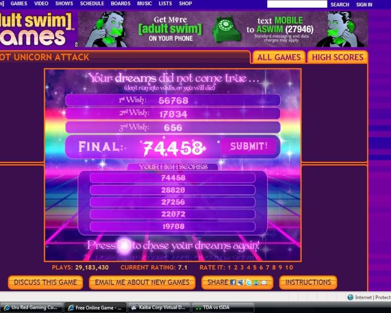 TDA Flash game challenge hosted by URU red My_hig10