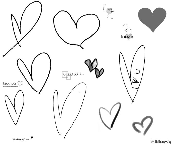 Brushs coeurs, étoiles, formes basiques 4r8dv510