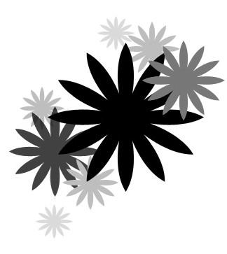 Brushs coeurs, étoiles, formes basiques Fleur710