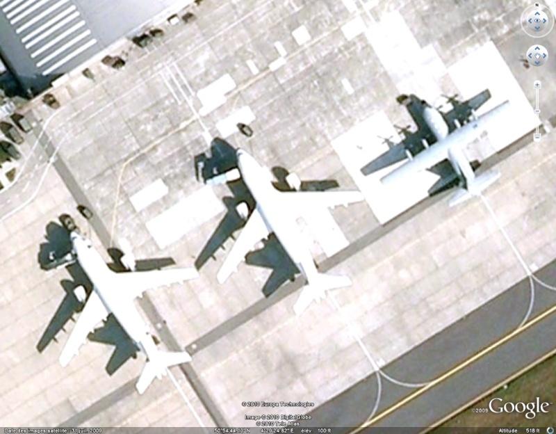 Avions et hélicoptères sur des bases aériennes belges Ge1011