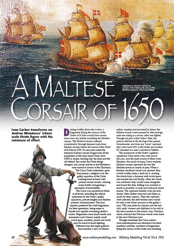 Maltese Corsair on Military Modelling March issue Mm201111