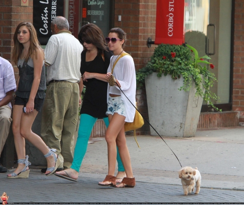 June 19 - Walking out her dog Maui in Toronto with friends Norm1270