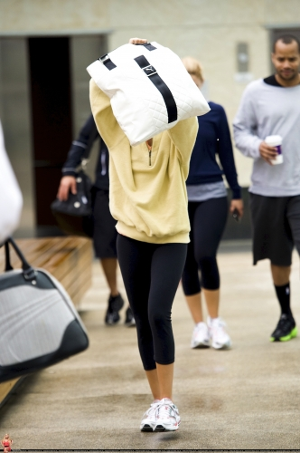 May 18 - Arriving at Equinox Gym in West Hollywood Norma596