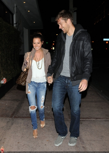 May 18 - Leaving Beso Restaurant in Hollywood with Scott Norma619