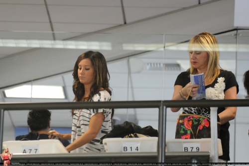 At LAX airport with her mom Norma695