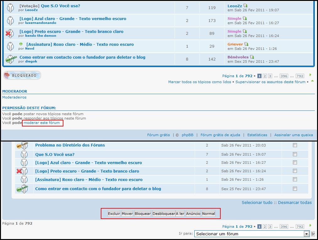 Última actualização: 5 novos recursos fenomenais em seus fóruns 410