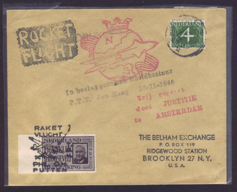 Raketenpost Niederlande deBruijn - NRS Nrs_1911