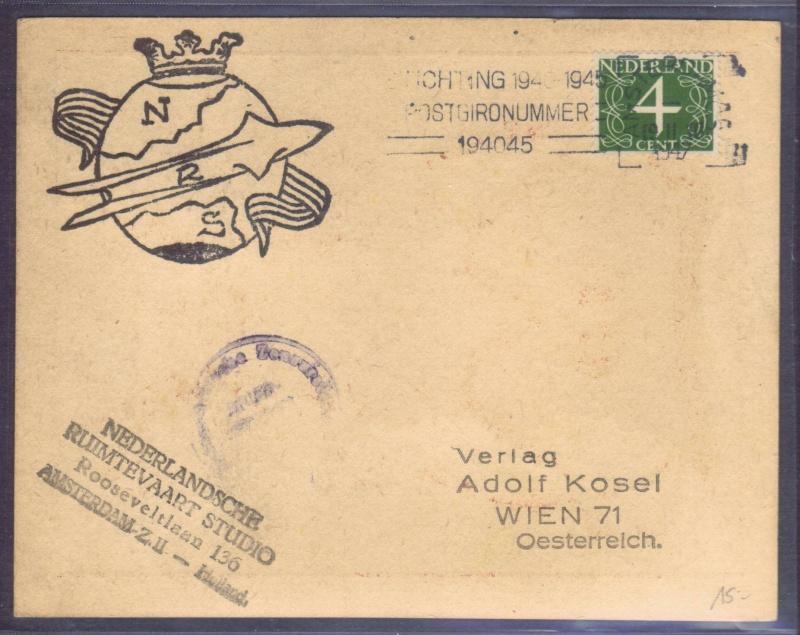Raketenpost Niederlande deBruijn - NRS Nrs_1913