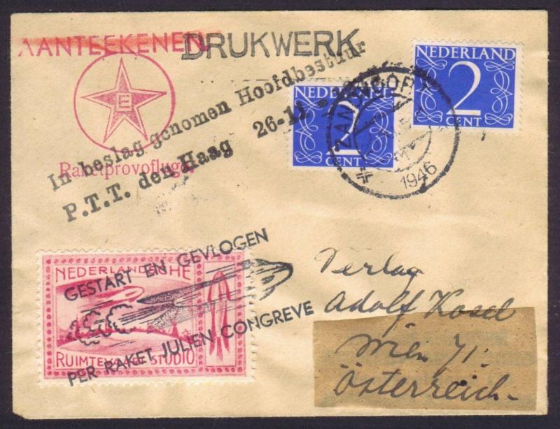 Raketenpost Niederlande deBruijn - NRS Nrs_1914