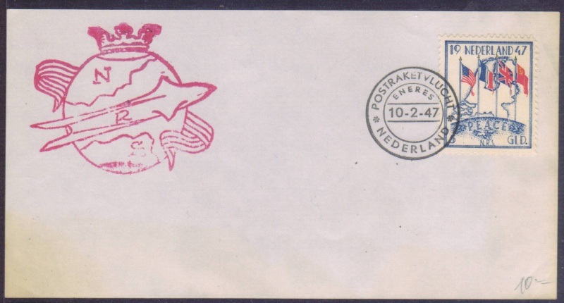Raketenpost Niederlande deBruijn - NRS Nrs_1915