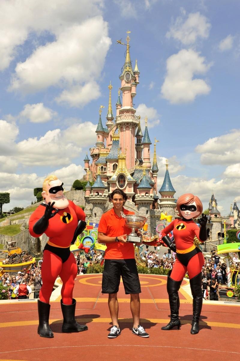 Rafael Nadal fête sa victoire à Disneyland Paris _dsc3811