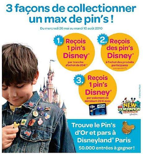 Pin's Disney dans les magasins Carrefour Belgique Ryyy10