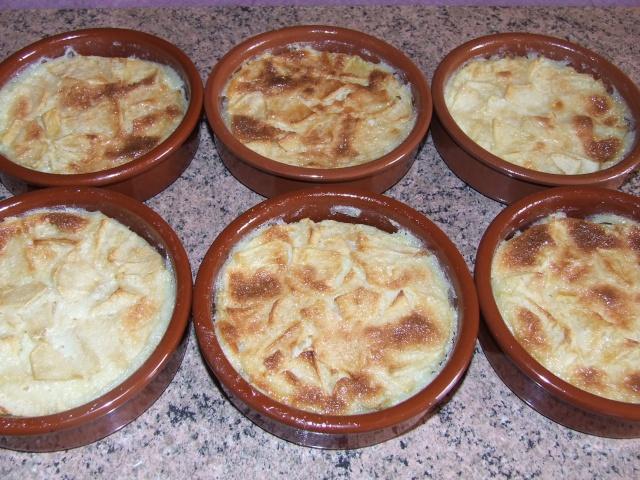 clafoutis aux pommes individuels 00449