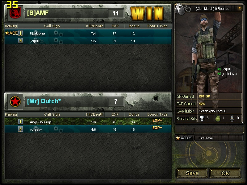 vs [Mr]Dutch* Cross111