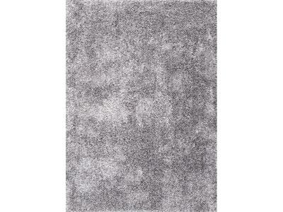 tapis shaggy noir et blanc