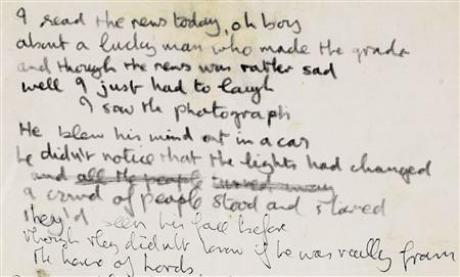Le manuscrit d'une chanson des Beatles vendu aux enchères 110