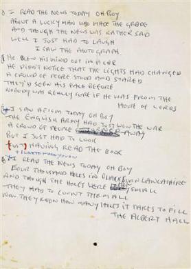 Le manuscrit d'une chanson des Beatles vendu aux enchères 210