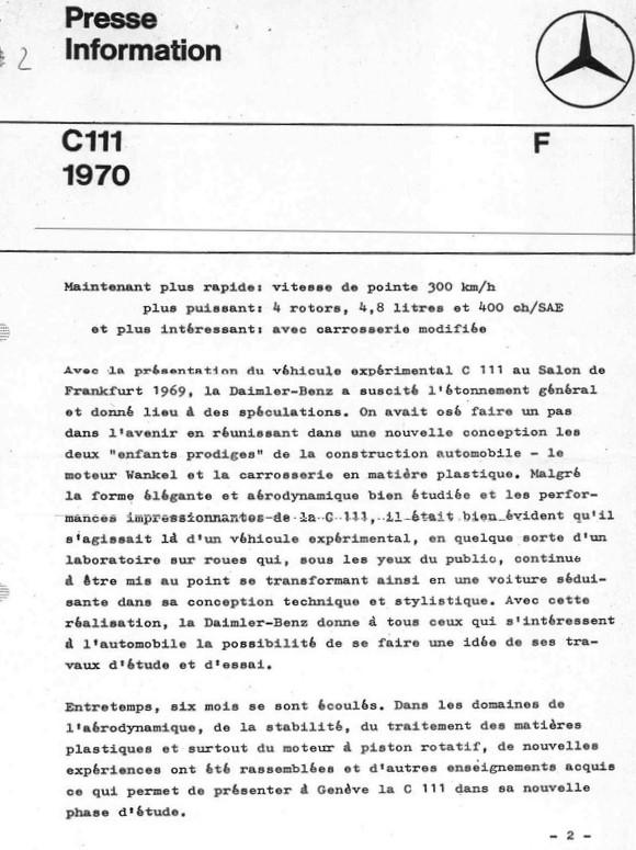 [Historique] Mercedes C 111 (1969-1979) 1110