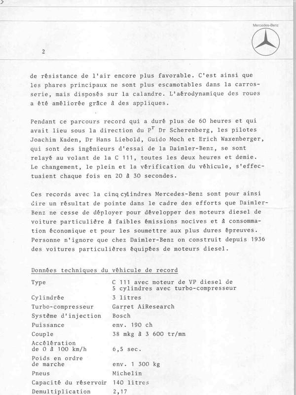 [Historique] Mercedes C 111 (1969-1979) 211