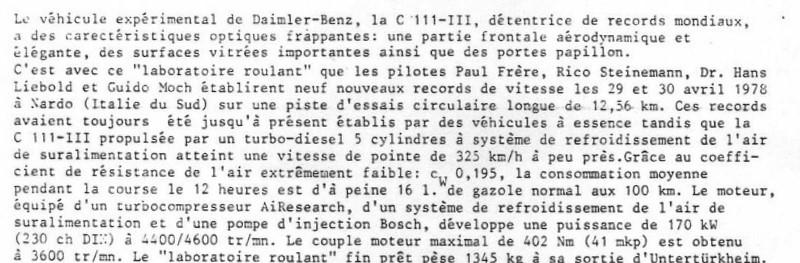 [Historique] Mercedes C 111 (1969-1979) 810