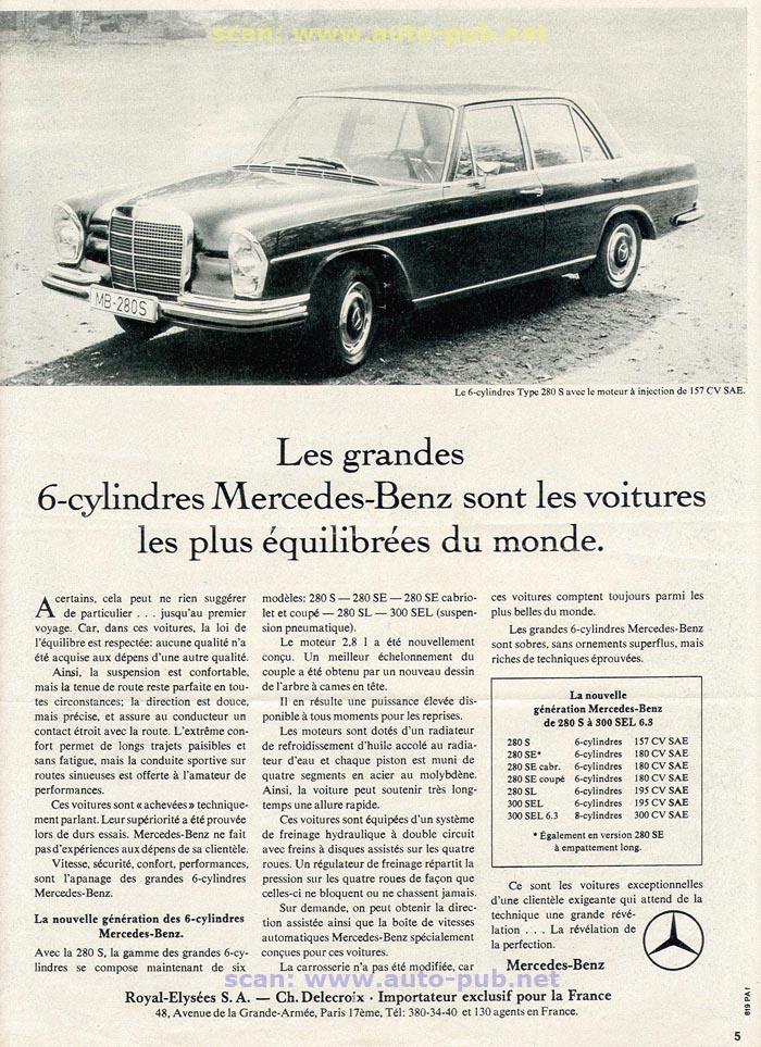 La Mercedes 250 S-SE / 280 S-SE / 300 SE (W108/W109) Berline   Merc1605