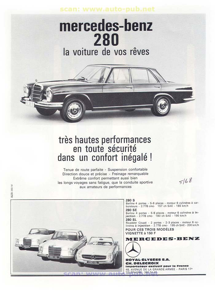 La Mercedes 250 S-SE / 280 S-SE / 300 SE (W108/W109) Berline   Merc1606