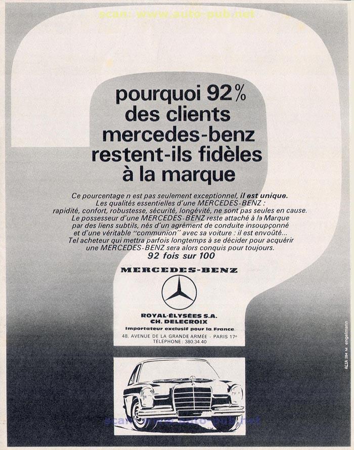 La Mercedes 250 S-SE / 280 S-SE / 300 SE (W108/W109) Berline   Merc1607