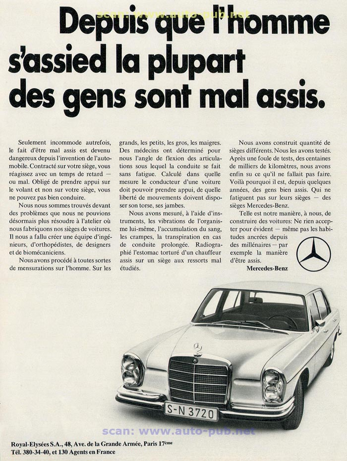 La Mercedes 250 S-SE / 280 S-SE / 300 SE (W108/W109) Berline   Merc1608