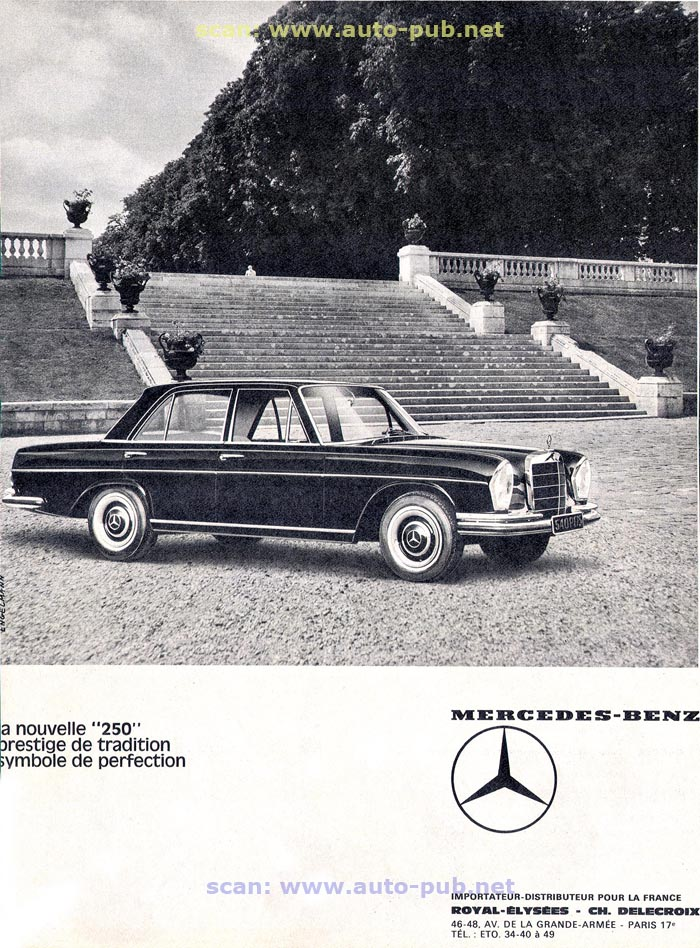 La Mercedes 250 S-SE / 280 S-SE / 300 SE (W108/W109) Berline   Merc1609