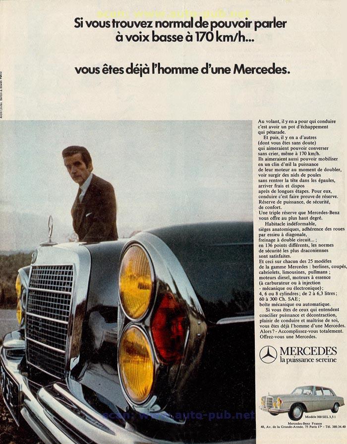La Mercedes 250 S-SE / 280 S-SE / 300 SE (W108/W109) Berline   Merc1612
