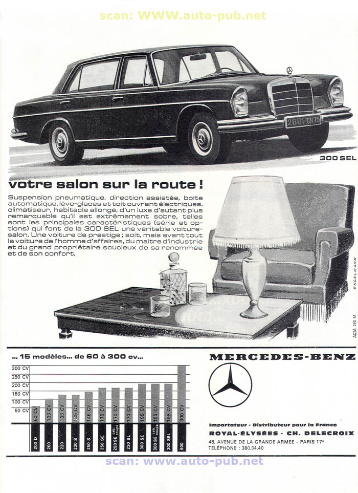 La Mercedes 250 S-SE / 280 S-SE / 300 SE (W108/W109) Berline   Merc1613