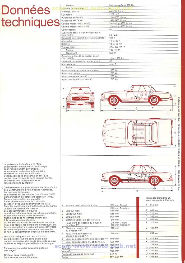 """La """"Pagode"""" 280 SL (W113 1967-1971)  Merc1757"""