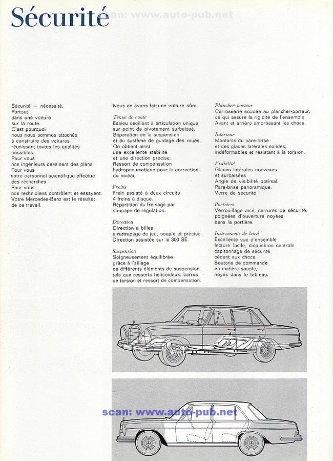 La Mercedes 250 S-SE / 280 S-SE / 300 SE (W108/W109) Berline   Merc1801