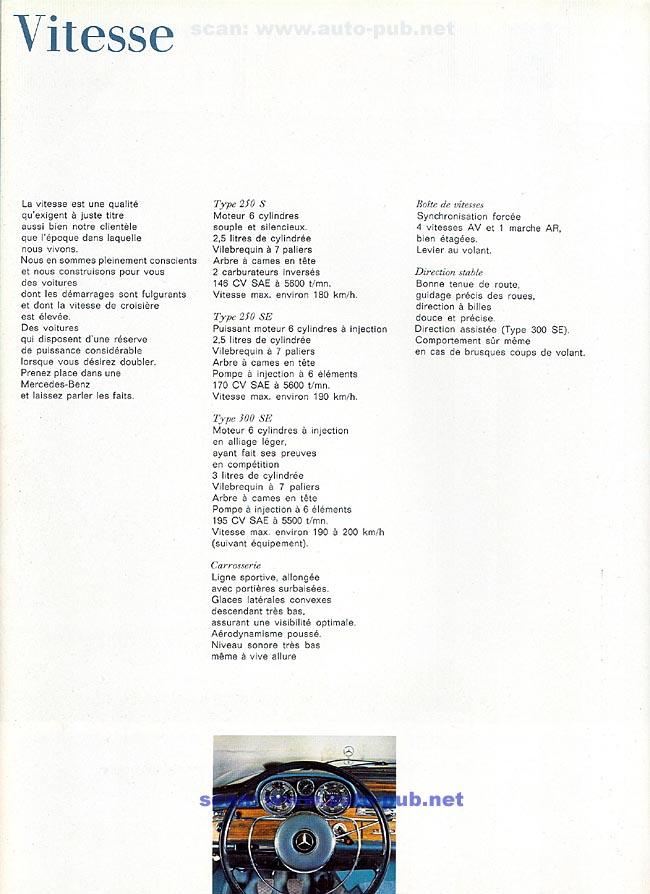 La Mercedes 250 S-SE / 280 S-SE / 300 SE (W108/W109) Berline   Merc1807