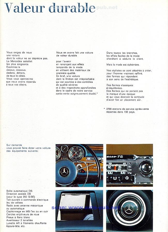 La Mercedes 250 S-SE / 280 S-SE / 300 SE (W108/W109) Berline   Merc1809