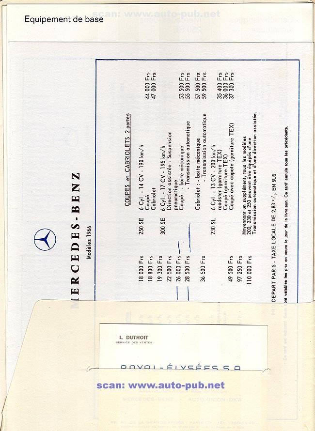 La Mercedes 250 S-SE / 280 S-SE / 300 SE (W108/W109) Berline   Merc1812