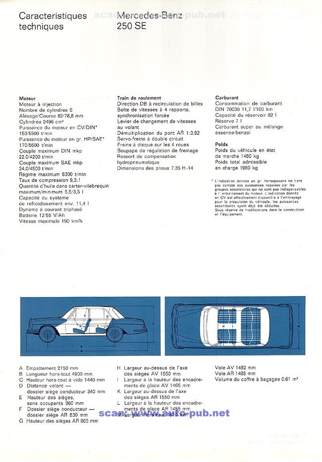 La Mercedes 250 S-SE / 280 S-SE / 300 SE (W108/W109) Berline   Merc1813