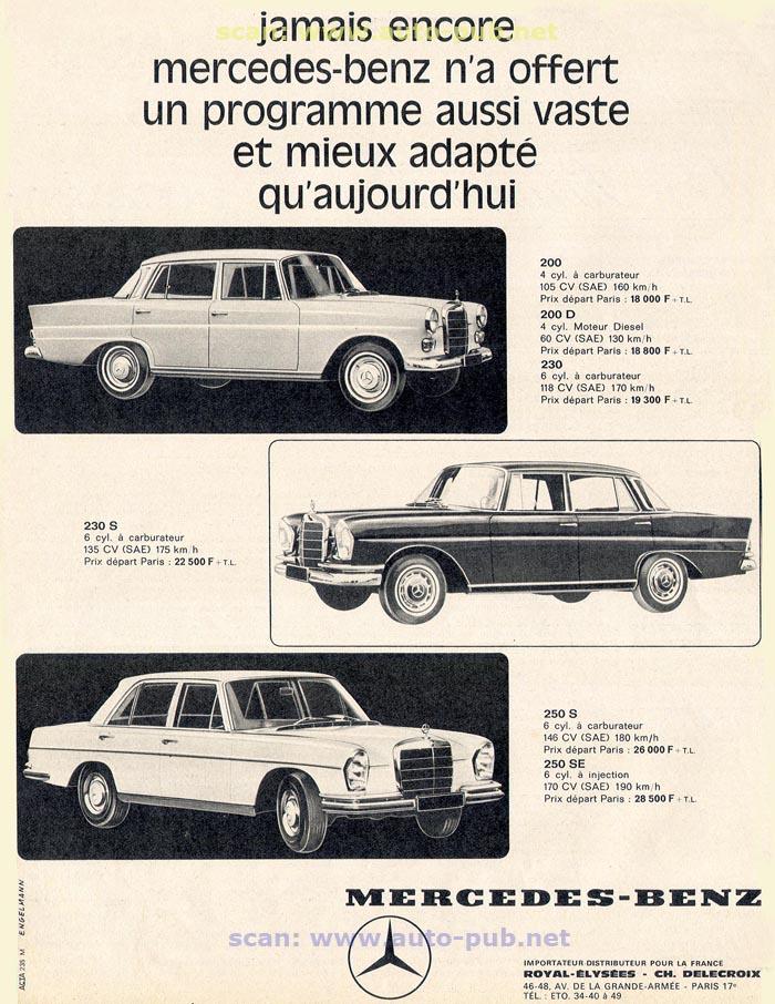 La Mercedes 250 S-SE / 280 S-SE / 300 SE (W108/W109) Berline   Merc1818