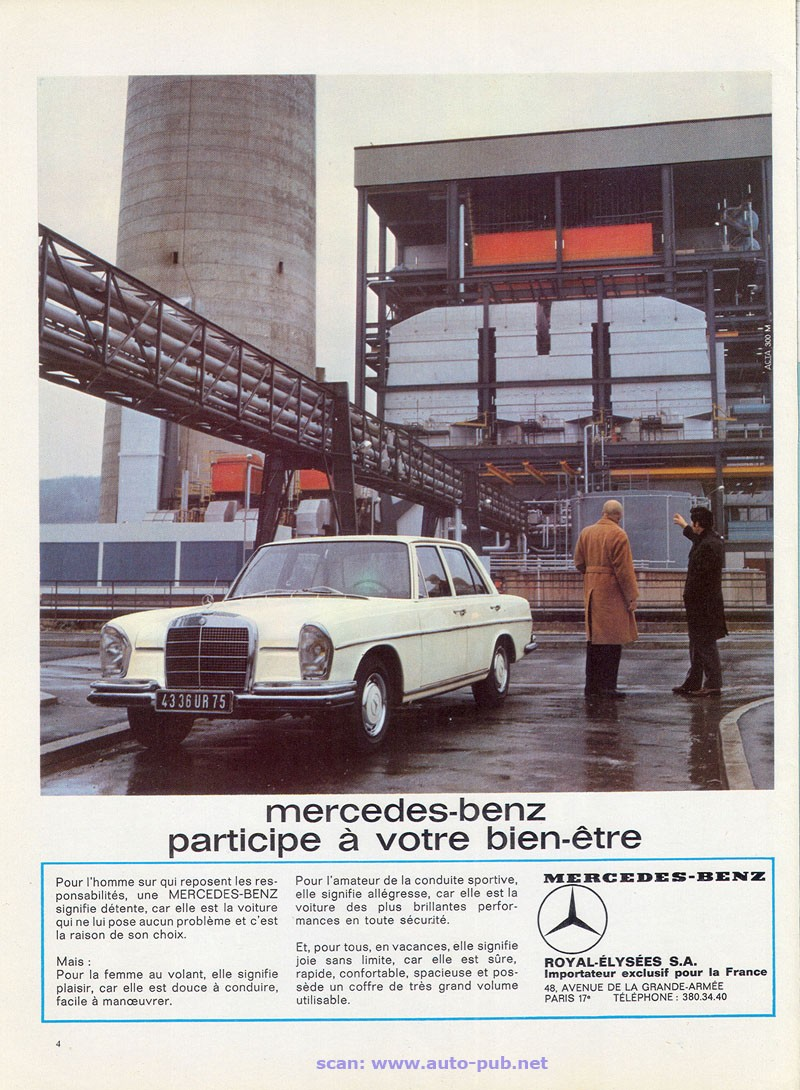 La Mercedes 250 S-SE / 280 S-SE / 300 SE (W108/W109) Berline   Merc1819