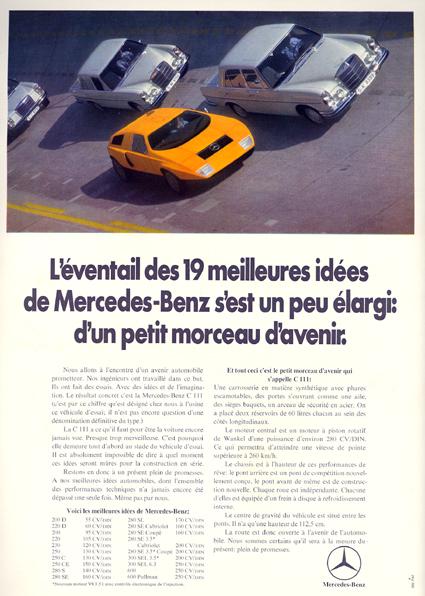 [Historique] Mercedes C 111 (1969-1979) Pubmer10