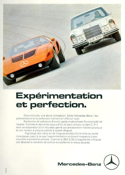 [Historique] Mercedes C 111 (1969-1979) Pubmer11