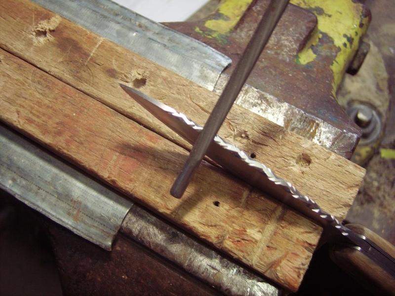 Personnalisation d'un couteau. Imgp5017