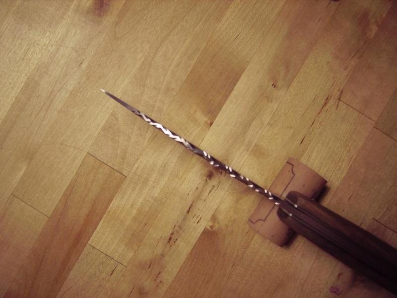 Personnalisation d'un couteau. Imgp5018