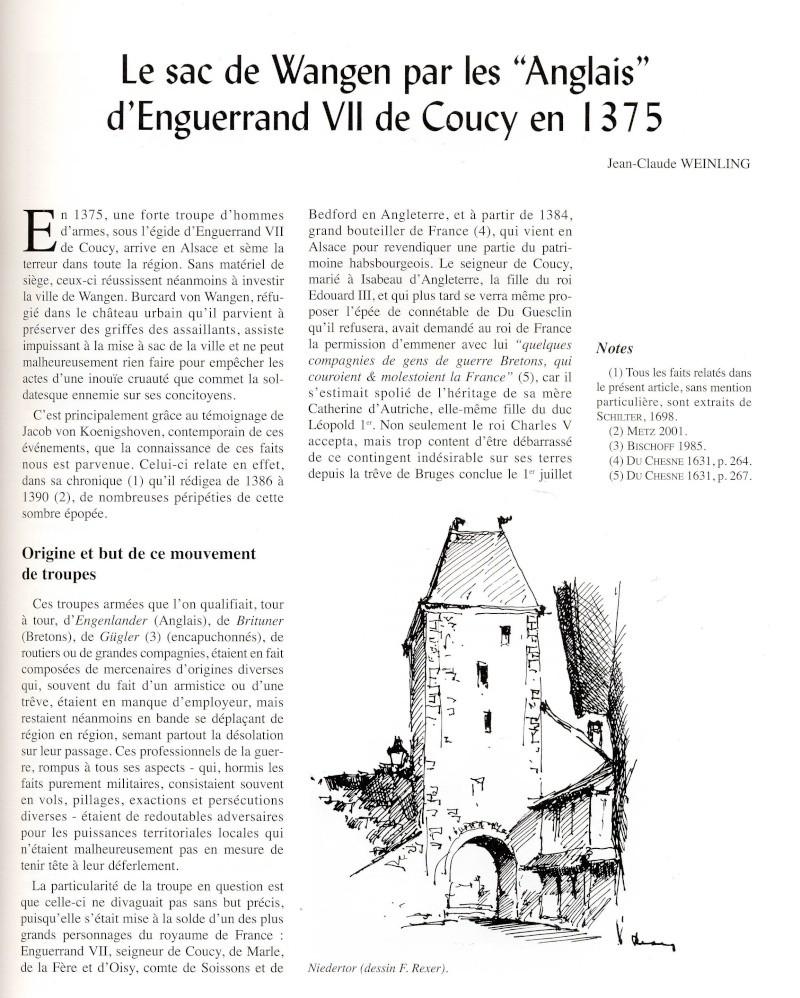 """Le sac de Wangen par les """"Anglais """" en 1375 raconté par Jean-Claude Weinling Image025"""