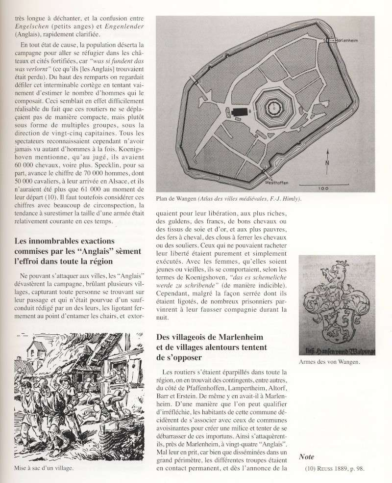 """Le sac de Wangen par les """"Anglais """" en 1375 raconté par Jean-Claude Weinling Image027"""