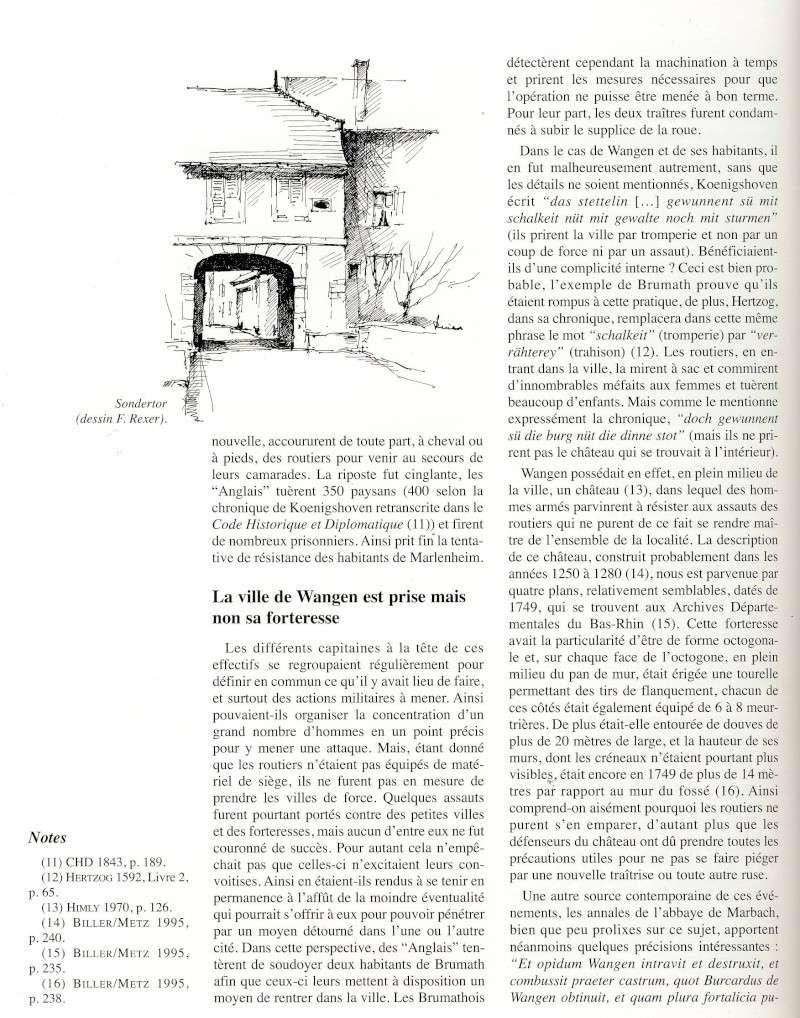 """Le sac de Wangen par les """"Anglais """" en 1375 raconté par Jean-Claude Weinling Image028"""