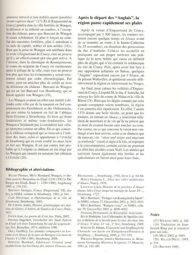 """Le sac de Wangen par les """"Anglais """" en 1375 raconté par Jean-Claude Weinling Image029"""